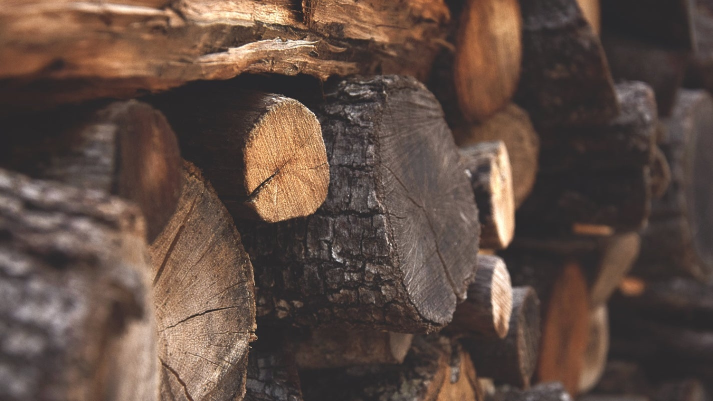 A stack of firewood.