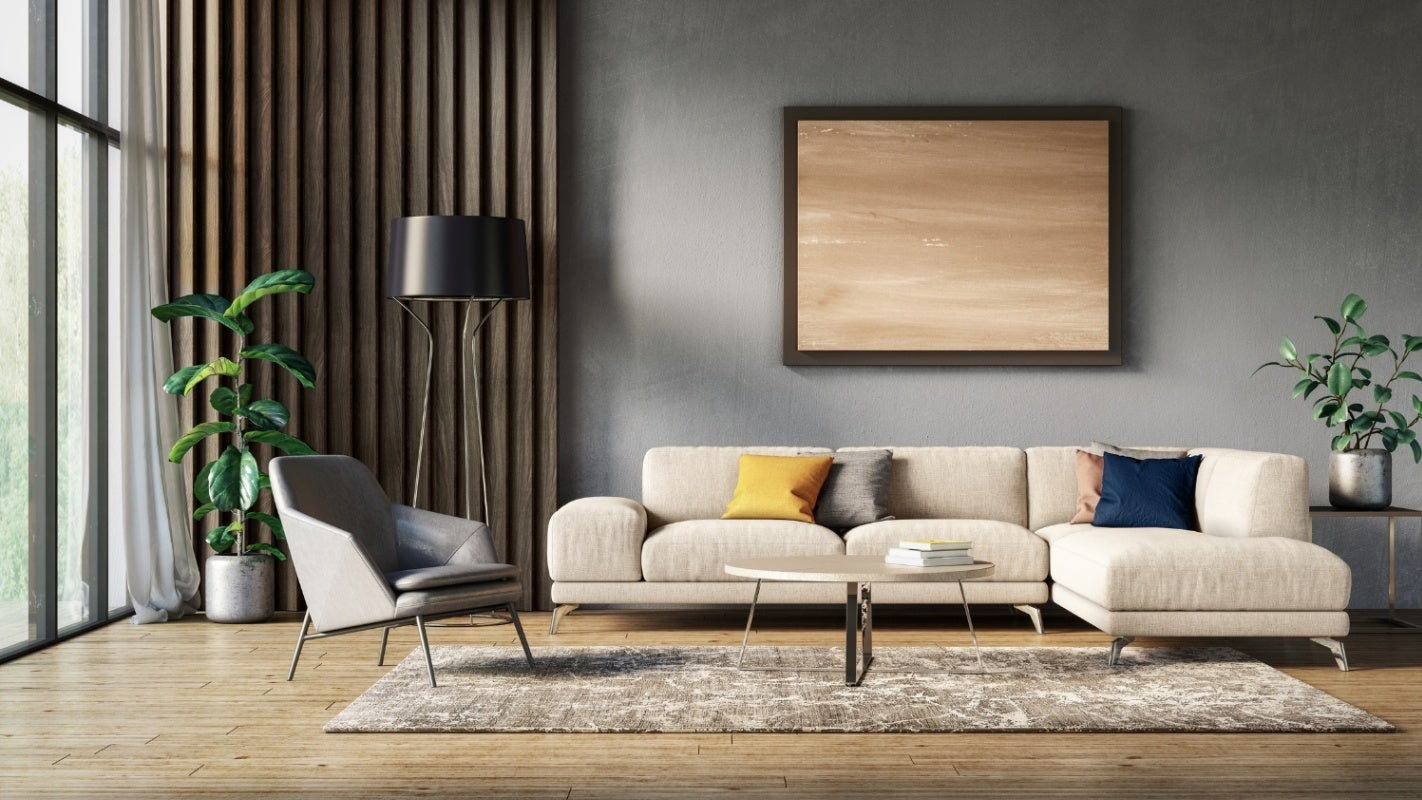 gray painted walls in a modern interior