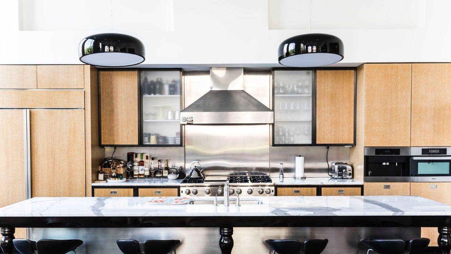 front and center kitchen island