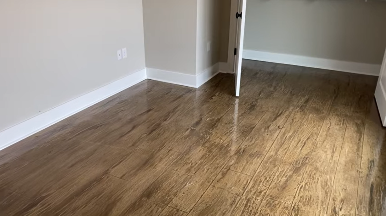How To Stain And Score Concrete To Look Like Wood