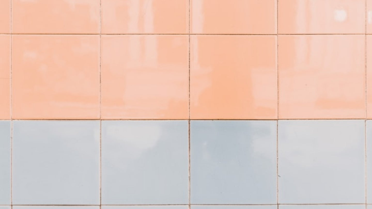Pastel and white tiles.