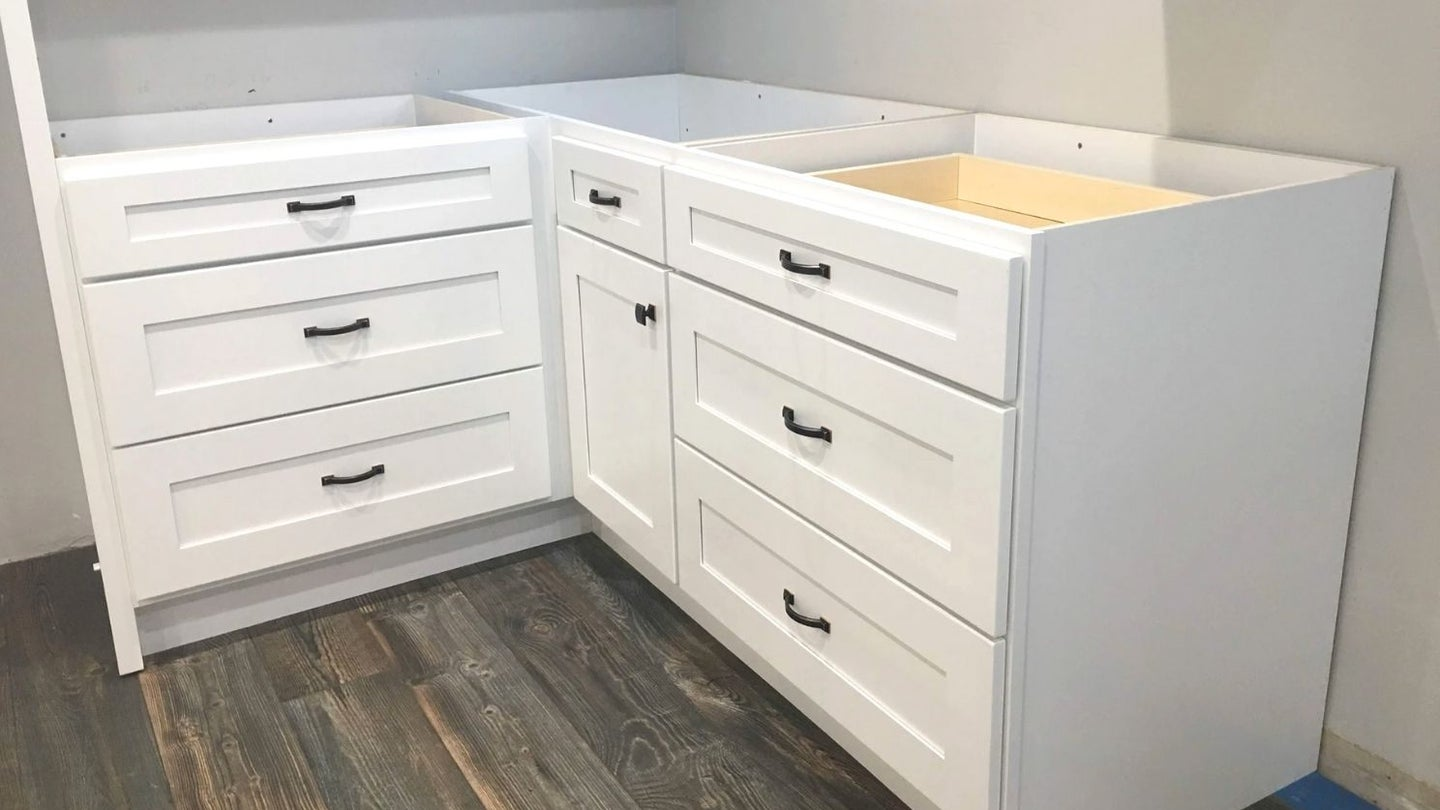 RTA (ready to assemble) kitchen cabinets in white