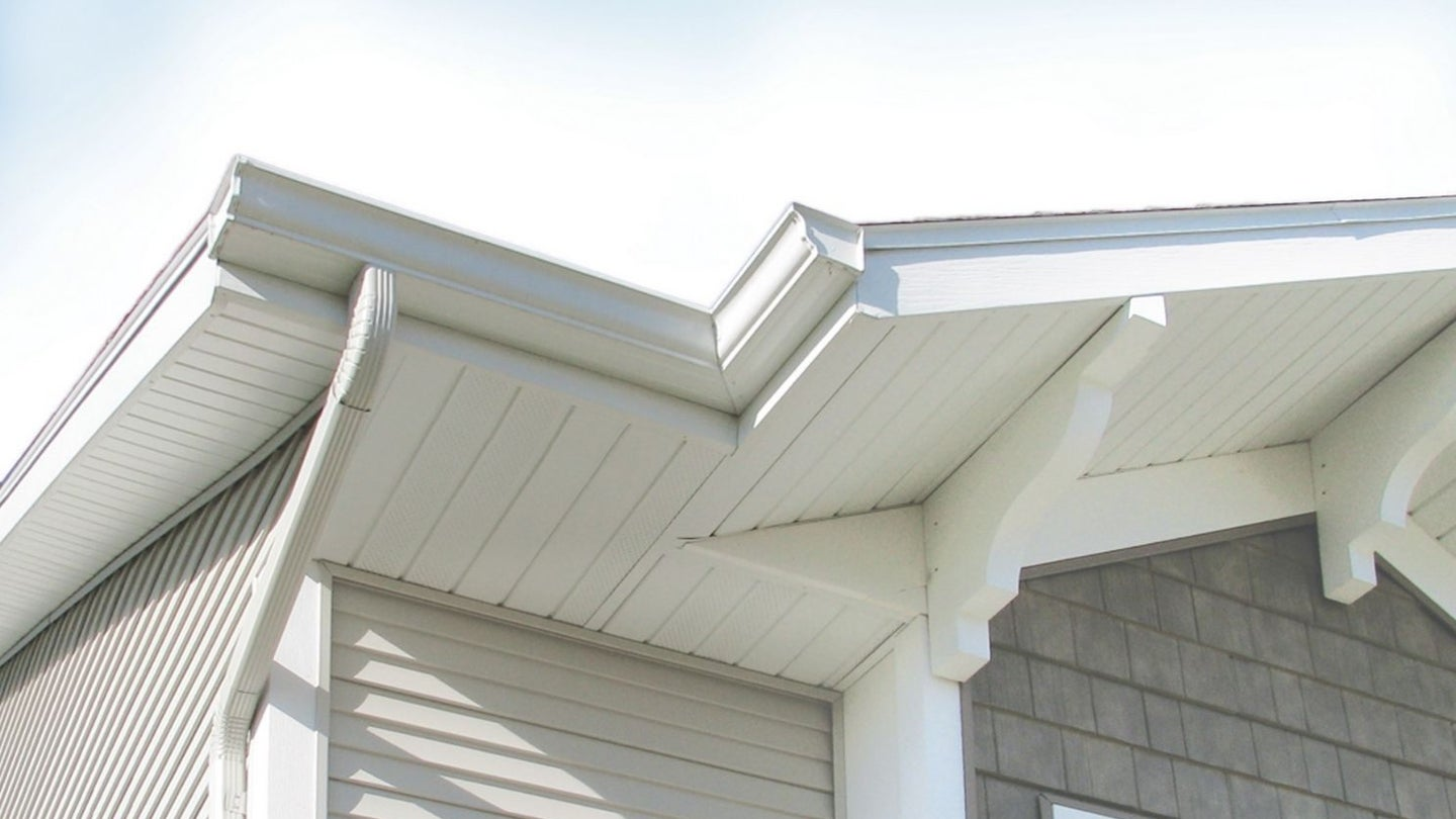 new soffit installed on the exterior of a home